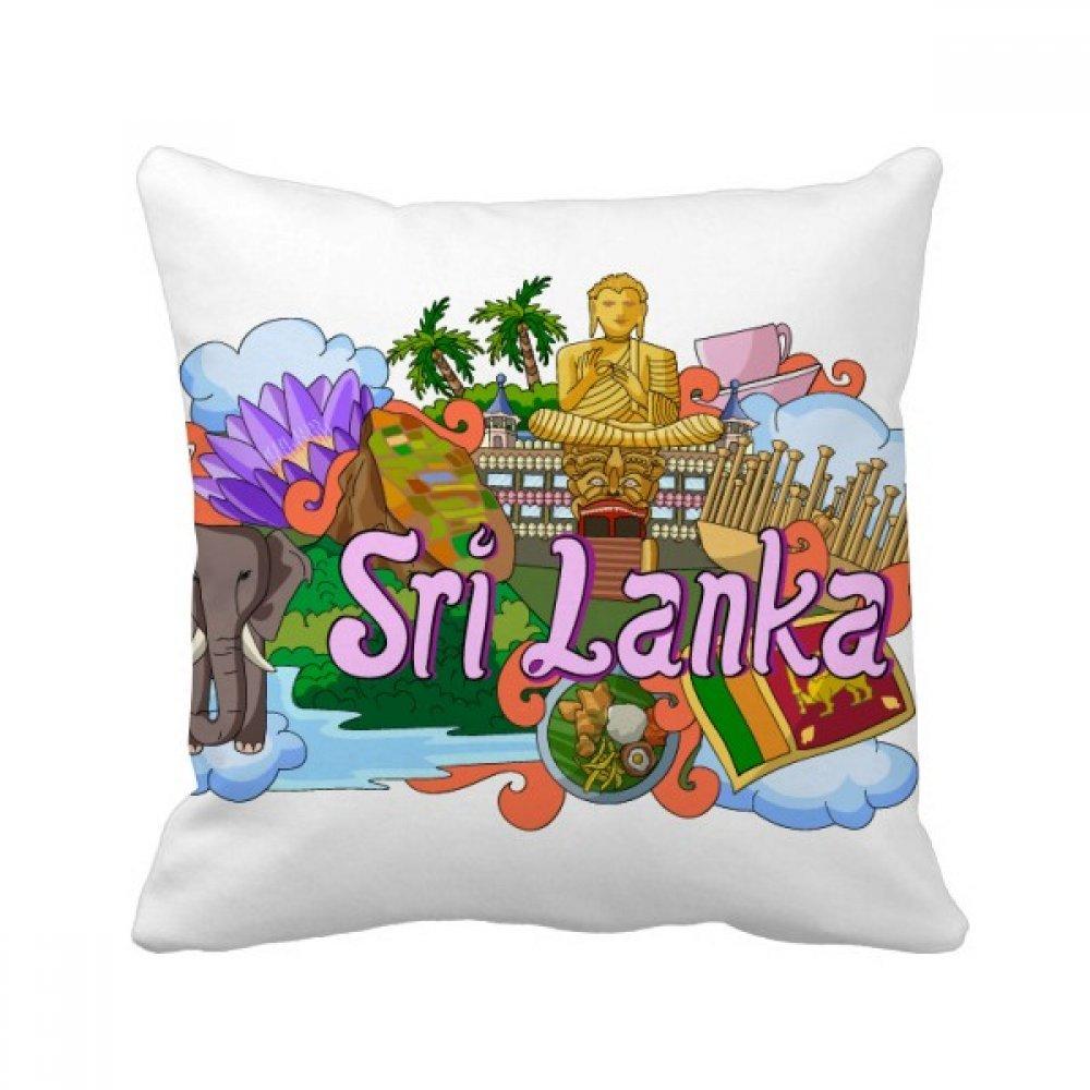 Amazon Com Diythinker Dambulla Elephant Sri Lanka Graffiti Square