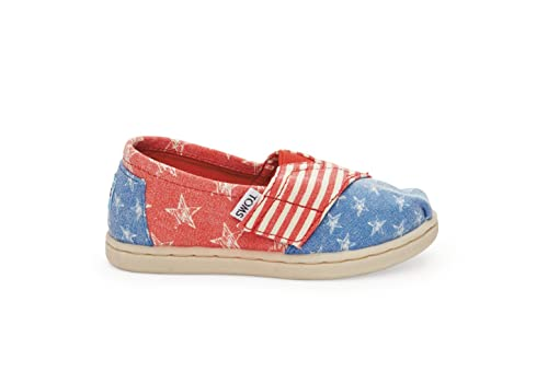 TOMS Classic Red Canvas Stars and Stripes 10004755 Tiny 3 12714919bd8c