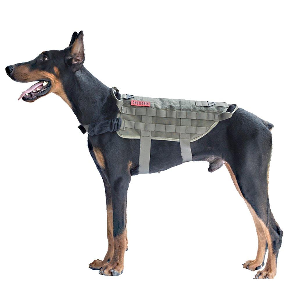 OneTigrey Tactical Dog Training Molle Vest Harness