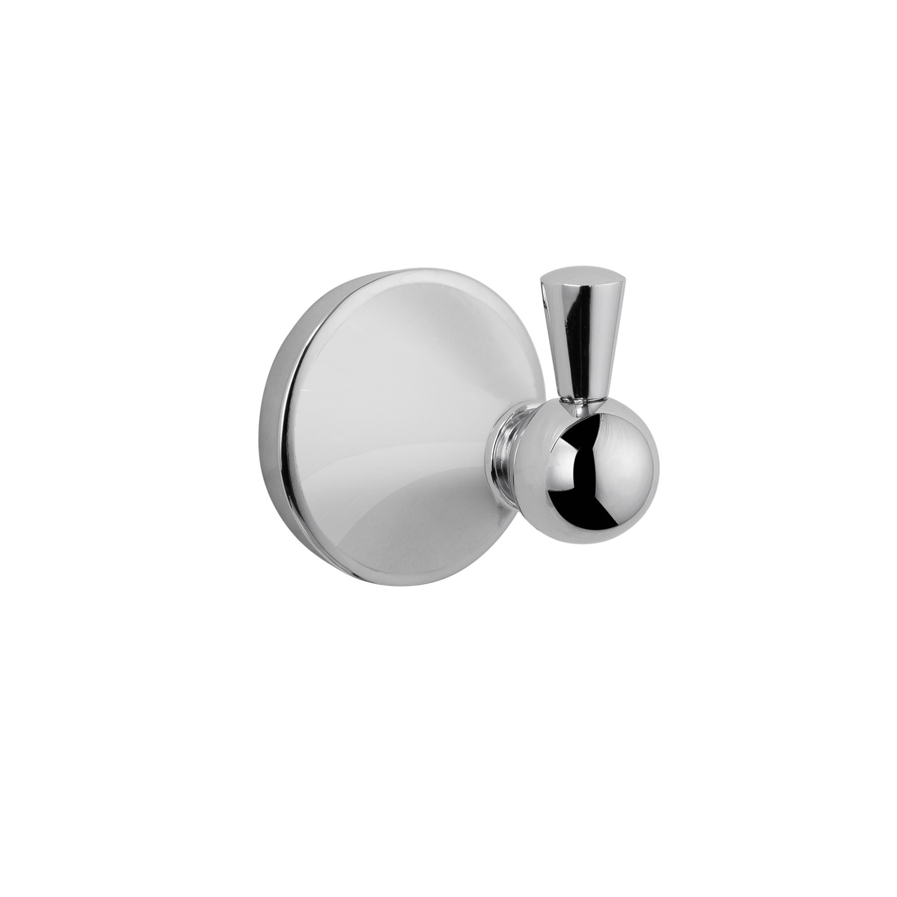 MAYKKE Charlotte Robe and Towel Hook | Modern Solid Brass Wall Mount Clothes Hanger for Bathroom Lavatory, Shower, Kitchen | Unique Round Ball Accent Design | Polished Chrome, XYA1030101