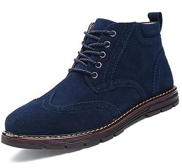 Zapatos para hombres Zapatillas deportivas de cuero con cordones de gamuza Botines Martin con cordones Derby