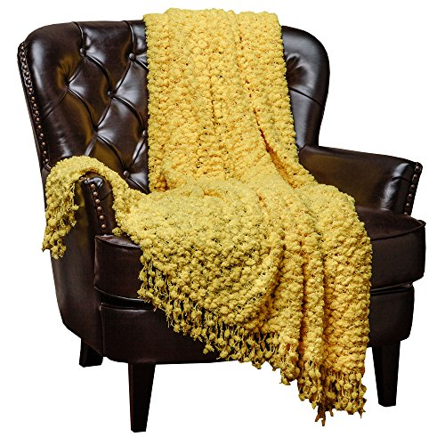 chanasya-super-soft-beautiful-elegant-decorative-woven-popcorn-texture-couch-bed-yellow-throw-blanke