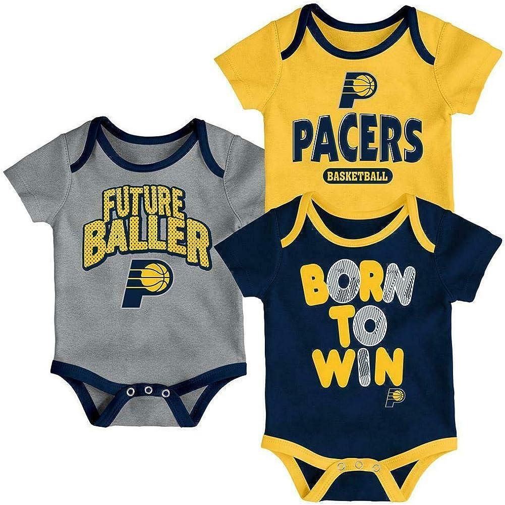 OuterStuff NBA Infants Little Fan 3 Piece Creeper Bodysuit Set