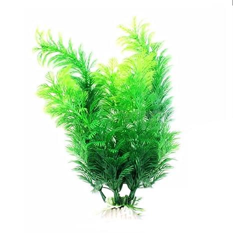 Vi.yo Planta artificial verde hierba plantas de agua pecera acuario decoración, plástico,