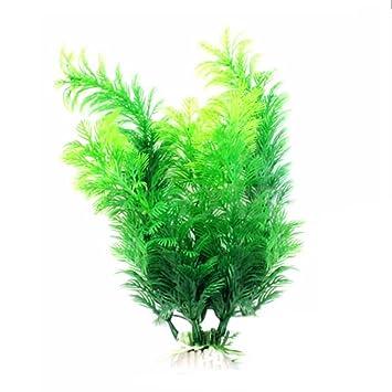 Vi.yo Planta artificial verde hierba plantas de agua pecera acuario decoración, plástico, Green2, 30 x 8cm: Amazon.es: Hogar
