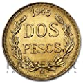 1945 Mexico Gold 2 Peso Coin .0482 AGW - Affordable Gold About Uncirculated