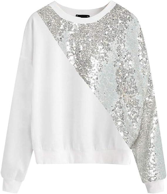 KPILP Vêtements Femme T-Shirt à Manches Longues