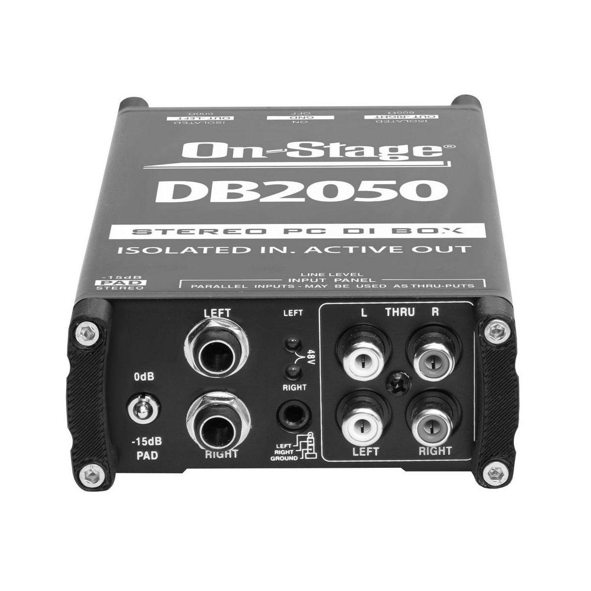 On-Stage DB2050 Active Stereo Multi-Media DI Box