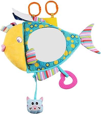 Asiento de seguridad universal de coche de la felpa del espejo claro reflejo inastillable amplia visión detrás de pescado espejo de juguete de felpa