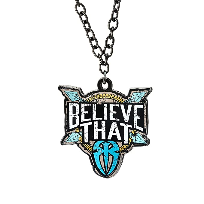 amazon com roman reigns blue believe that pendant wwe authentic