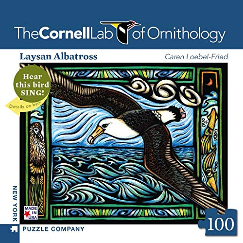 New York Puzzle Company - Cornell Lab Laysan Albatross Mini - 100 Piece Jigsaw Puzzle