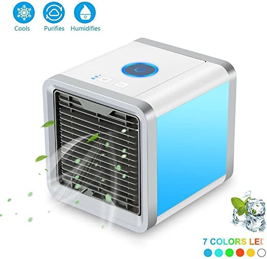 LDZY Air Cooler Portable 3-en-1 Mini Ventilador Eléctrico ...