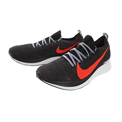 online store 5cb42 392a6 Nike Zoom Fly Flyknit Men s Running Shoe Black Bright Crimson-Obsidian Mist  7.5