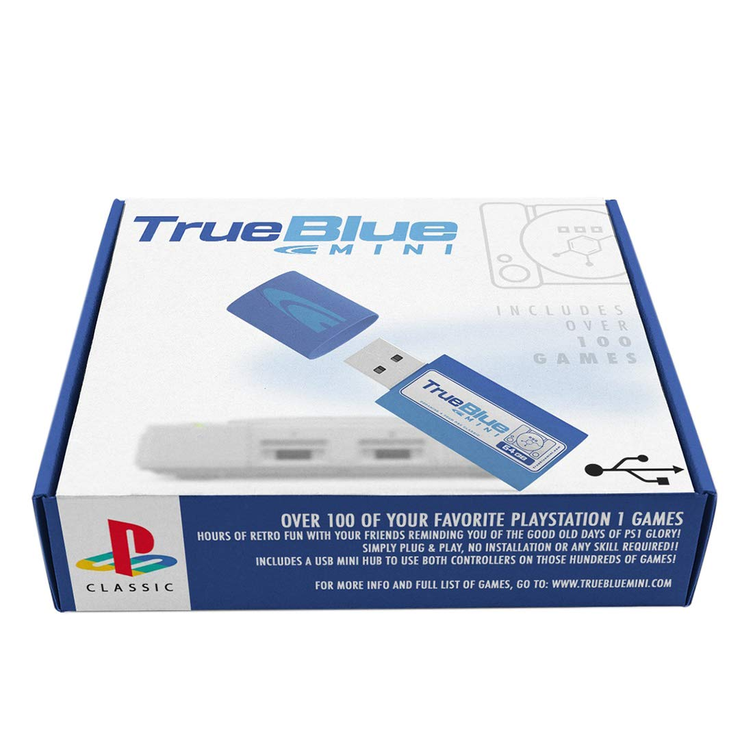 Petforu True Blue Mini Crackhead Pack for PlayStation Classic (64 GB)