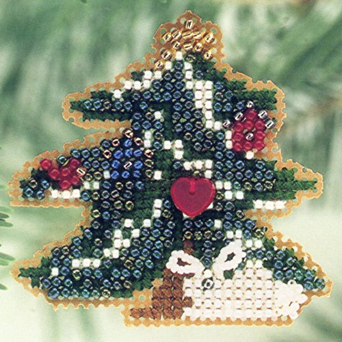 Counted Cross Stitch Christmas Ornament Kit Mill Hill 2001 Winter Holiday H100 ()