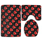 Poker Cards Love U-shaped Bathroom Rugs Set Thin Toilet Mat Set Dries Quickly Lid Toilet Cover And Bath Mat