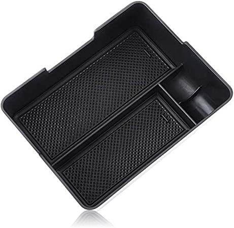 Salusy 2pcs Front Side Door Armrest Storage Box Holder Contianer Box Compatible with Audi A4 2009-2016