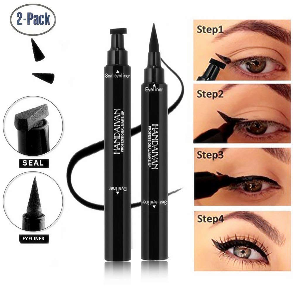 Black Liquid Eyeliner Pen With Stamp Quick Dry Waterproof Long Lasting Cat Eye Liner Pencil Seal Cosmetic Makeup Tool 1 Piece To Prevent And Cure Diseases Back To Search Resultsbeauty & Health