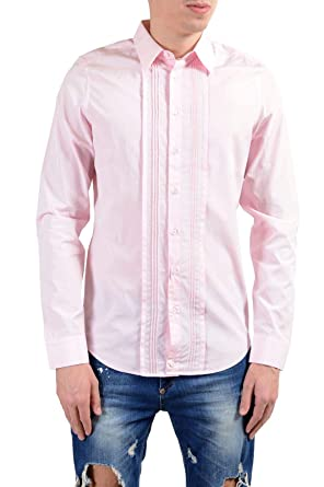 c42675a4716 Image Unavailable. Image not available for. Color  Gucci Men s Pink Long  Sleeve Dress ...