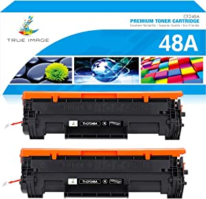 True Image Compatible Toner Cartridge Replacement for HP 48A CF248A Laserjet Pro M15w M29w M16a M16w M15a Laser Jet MFP M28w M28a M31w M28 M29 M15 M29a M30w Printer Ink (Black, 2-Pack)