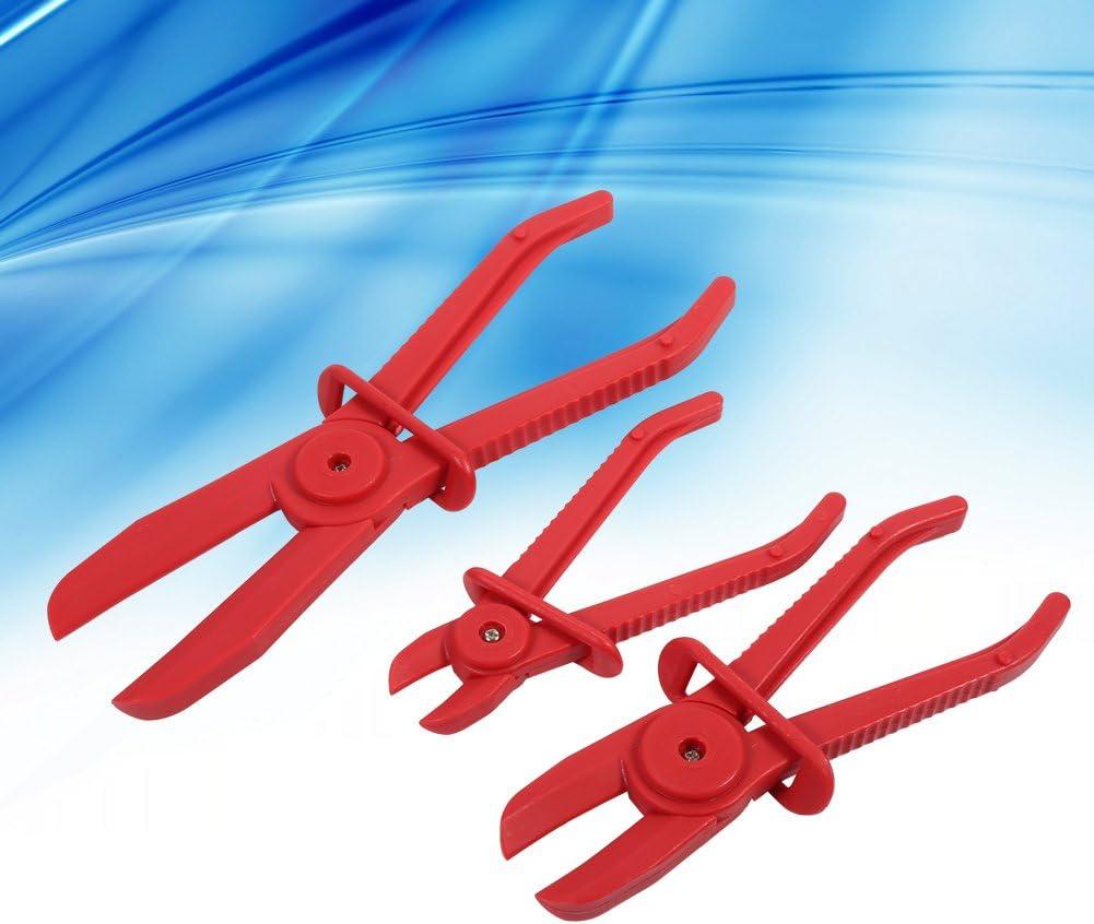 Asixx 3 piezas Juego de herramientas de abrazadera de manguera de nylon Freno Combustible L/ínea de agua Abrazadera Alicate Herramienta de manos libres Pinzas de abrazadera de manguera