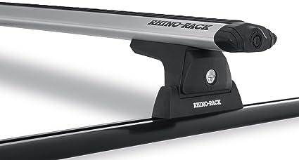 Rhino-Rack Vortex RLT600 Black 3 Bar Rhino-Rack Backbone Roof Rack Jeep Wrangler 4dr SUV Hard Top 2011 to 2018 Compatible with