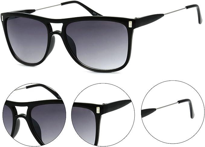 MLC Eyewear Simple Retro Fashion Flat Top Rectangular Aviator Sunglasses