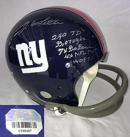 Steve Smith (New York Giants) Autographed Helmet - Y A Tittle Full Size  Authentic 2 921d2e33e