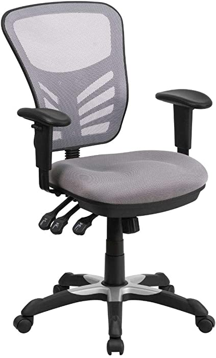 Flash Furniture Gray Mid-Back Mesh Chair
