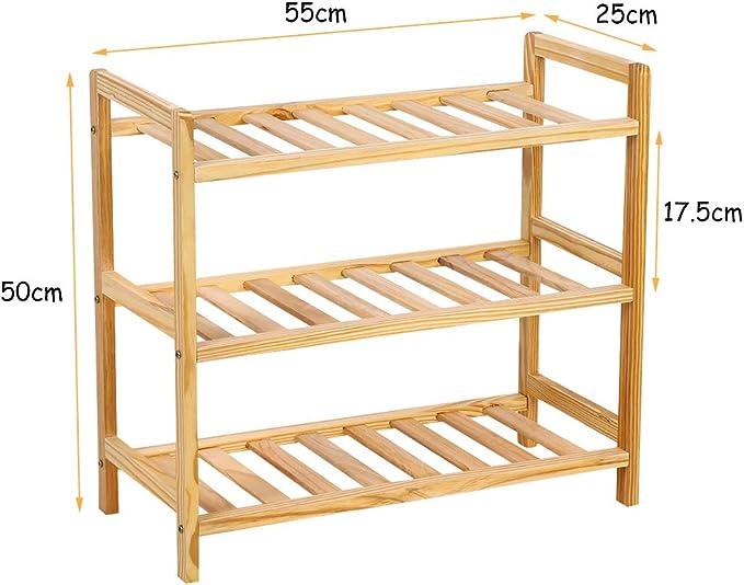 Wohnzimmer Greensen Schuhregal Holz Schuhst/änder 4 Ebenen Badregal Schuhablage Wei/ß Standregal Schuhschrank B/ücherregal Ablageregal f/ür Flur Bad
