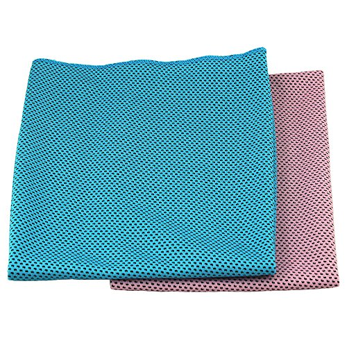 BeGrit Snap Cooling Towel Chilly Pad (Pack of 2) Ice Cool Bowling Fitness Yoga Towels for Travel Running Biking Hiking Gym Golf
