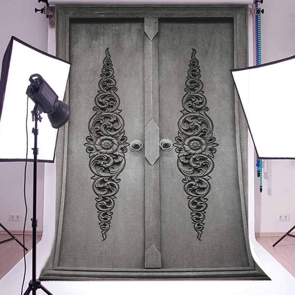 7x10 FT Vinyl Photography Background Backdrops,Damask Antique Baroque Curls Classic Old Fashioned Artistic Royal Revival Background for Graduation Prom Dance Decor Photo Booth Studio Prop Banner