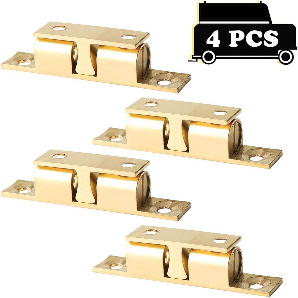 Alise CA200-4P Solid Brass Cabinet Door Closet Ball Tension Catch Latch,60mmX33mm 4 Pcs
