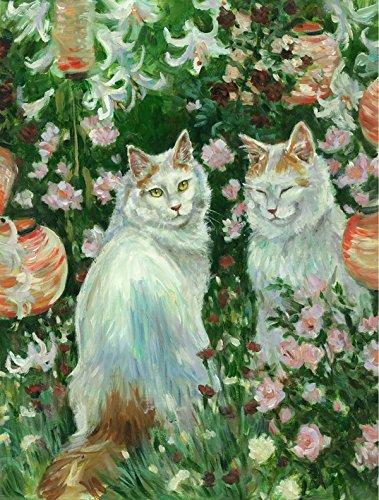 Caroline tesoros del cdco0151gf gatos en jardín por Debbie Cook bandera de Jardín, pequeño, multicolor: Amazon.es: Jardín