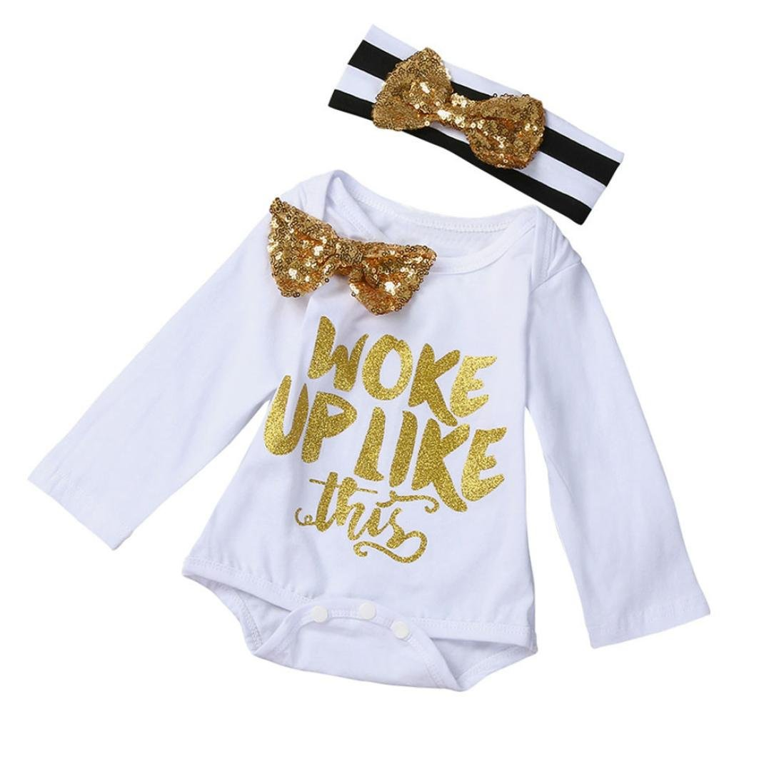 TM CuteWORK UP Letters Pattern Baby Bowknot Tie Dai Dai Hairband Set Efater