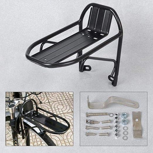 Aluminum Alloy Bike Bicycle Front Rack Luggage Shelf Panniers Bracket