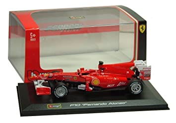 F1 Ferrari F10 Fernando Alonso 2010 Formula 1 Die-Cast Model By Bburago 1: