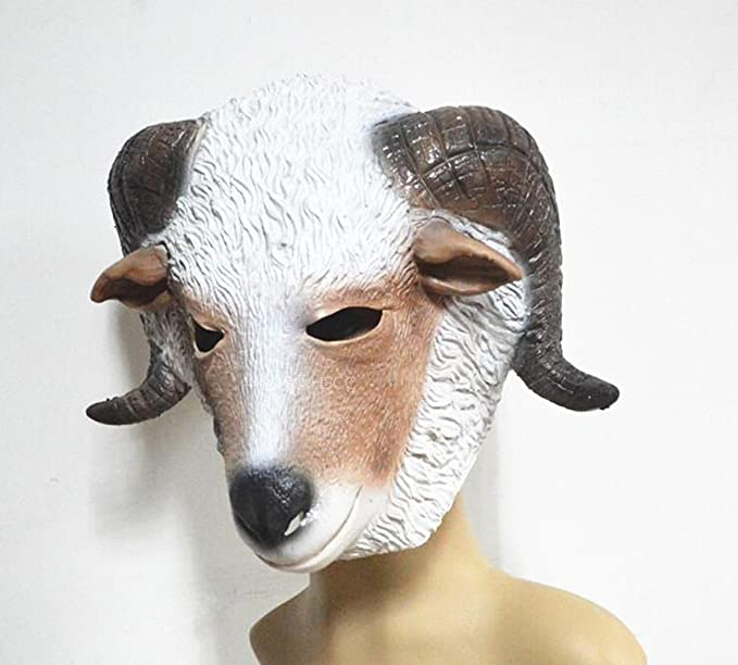 Cabeza de cabra máscara de látex Animal Costume Full Head Mask ...