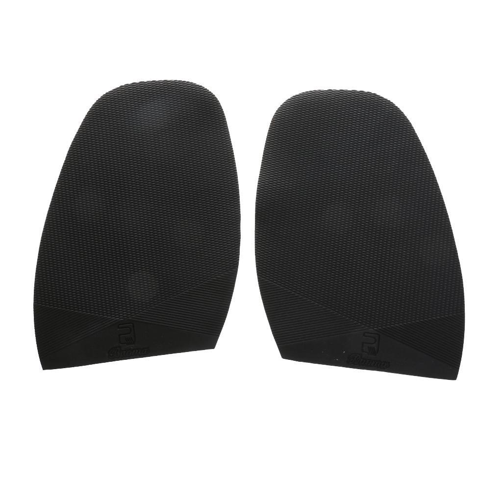 P Prettyia Demi Semelle En Caoutchouc Antidérapante Réparation Chaussure épaisseur Noire 2mm