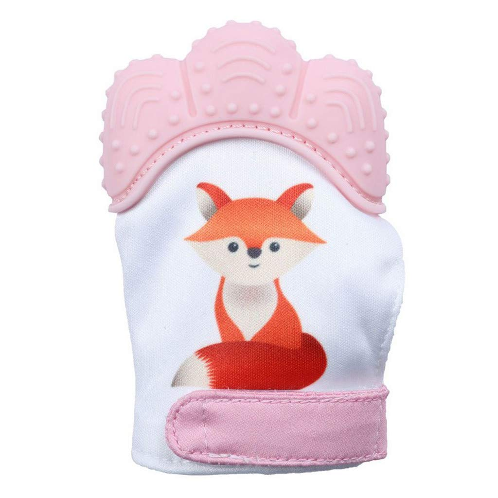 Tonsee  Nouveau Design Baby Silicone Fox Mitaines Dents Mitaines Molaires Gant Wrapper