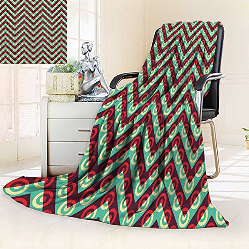 Football Summer Blanket Sports Field in Green Gridiron Yard Competitive Games College Teamwork Superbowl Flannel Green White Size:51