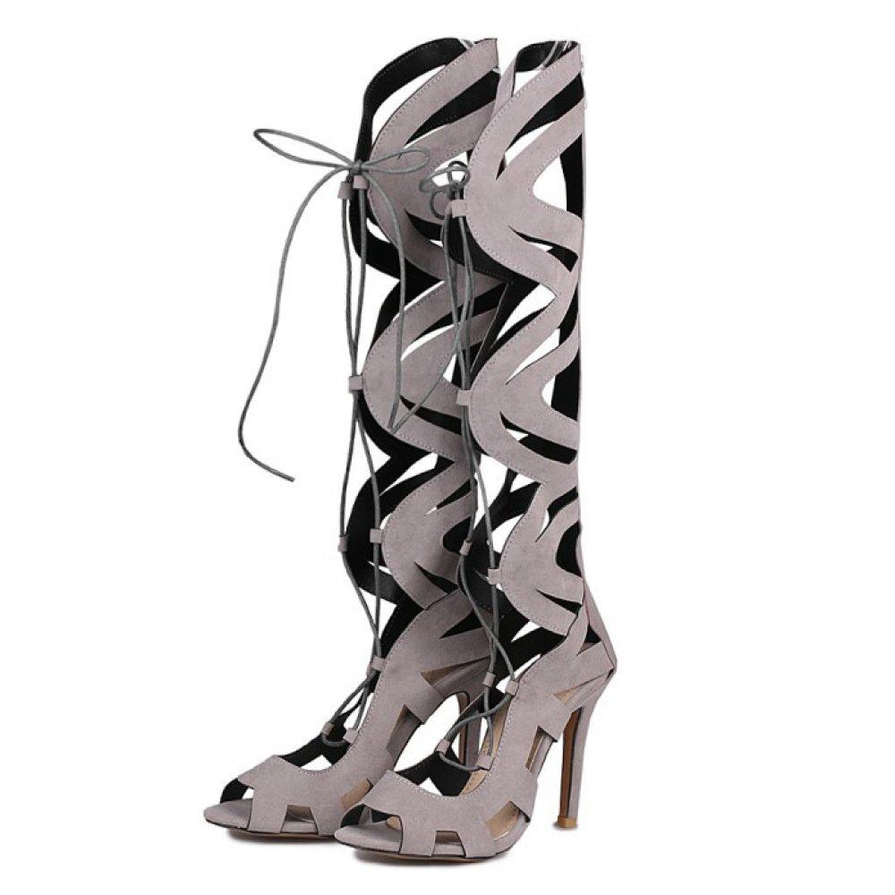 Frauen Roman Schuhe Stiefel Damen Stiletto High Heel Lace Up Up Up Peep Toe Riemchensandalen Schuhe Pumps Party Größe 27e3a7