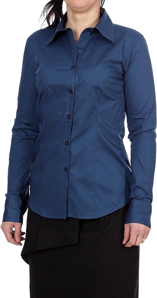 Jobeline - Camisas - para mujer azul marino 50: Amazon.es: Ropa y accesorios