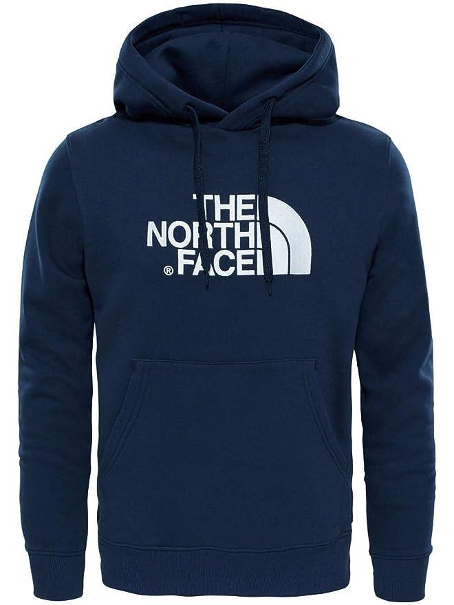 The North Face Drew Peak Sudadera con capucha Hombre, tnf medium grey heathertnf black