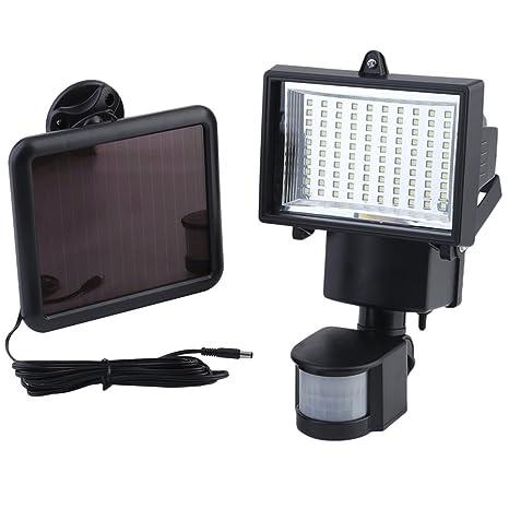 iCoco 100 lámpara solar LED Lámpara Sensor de movimiento, foco lámpara Jardín Exterior, Solar