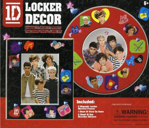 1D - One Direction - Locker Decor Kit - 2 Magnetic Locker Mirrored Frames