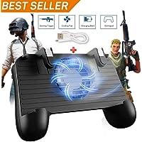 Controlador de Juego móvil para PUBG 5 en 1 versión Mejorada Gamepad Shoot y Aim Trigger Phone Cooling Pad Power Bank para Android y iOS Fortnite/Knives out