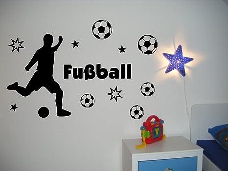Xxl Wandtattoo 68169 120x80 Cm Fussballspieler Text Fussball Fussballe Und Sterne Toor Furs Kinderzimmer Jungen Wandaufkleber Wandtatoos Sticker