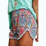 Women Shorts,Haoricu 2017 Clearance! Women Hot Pants Summer High Waist Beach Pants (L, Multicolor)