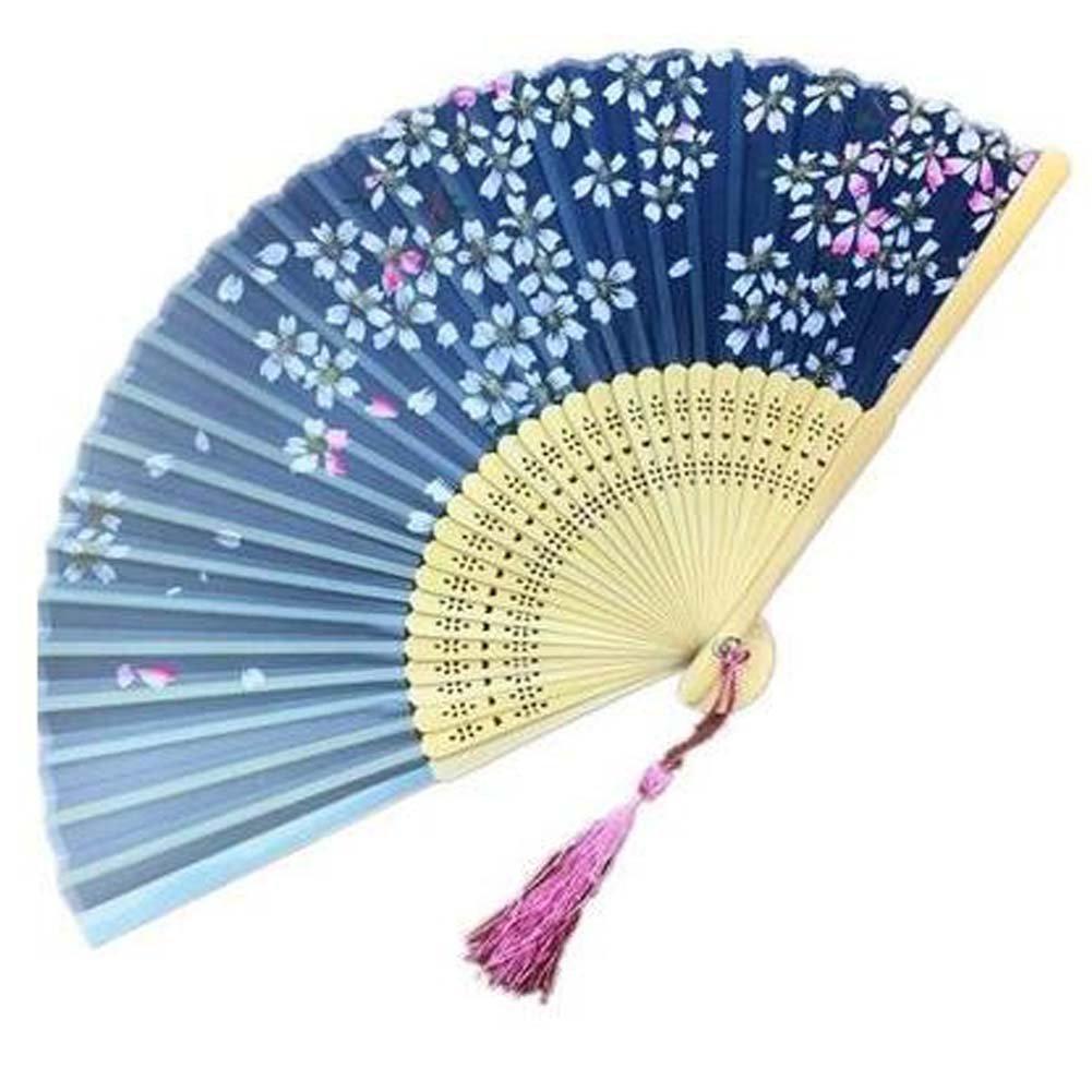 Panda Superstore Handheld Fan Folding Fan Aya Silk Handheld Folding Fan Chinese/Japanese Silk